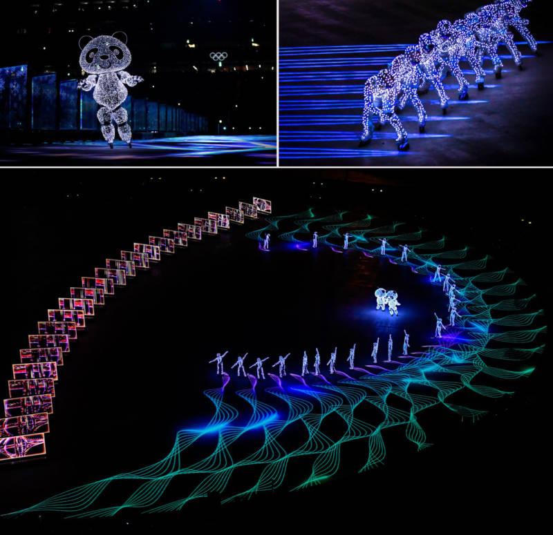 Dancers perform in Pyeongchang.
