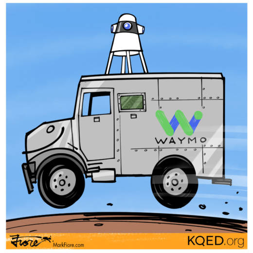 Self-Driving to the Bank by Mark Fiore