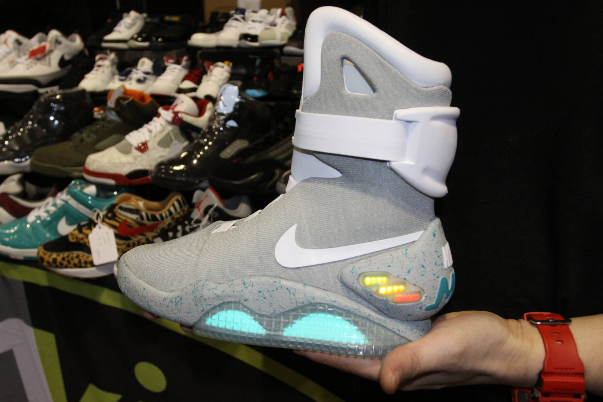 """This pair of """"Marty McFly"""" Air Mags, named after the Back to the Future character, is priced at $11,000."""
