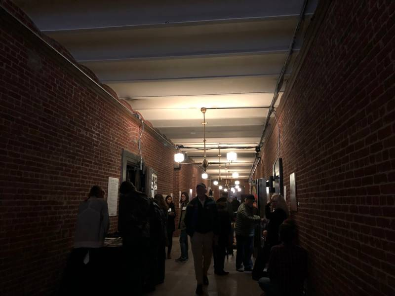 Attendees could roam the dark, cold vaults in the Old Mint. Many organizations had tables set up in the vaults to educate the public about local history.