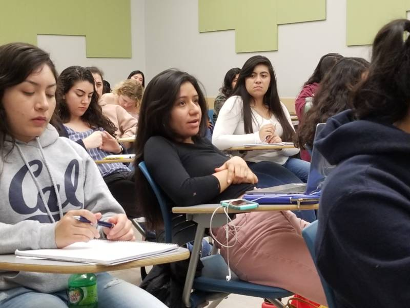 UC Berkeley students engage in a class that lecturer Pablo Gonzalez teaches on Mexican immigration.