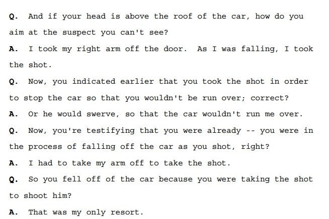 An excerpt from an Oct. 21, 2004 probation revocation hearing for Robert Edwards, in which defense attorney Christopher Martin questions SFPD Officer John Trail.