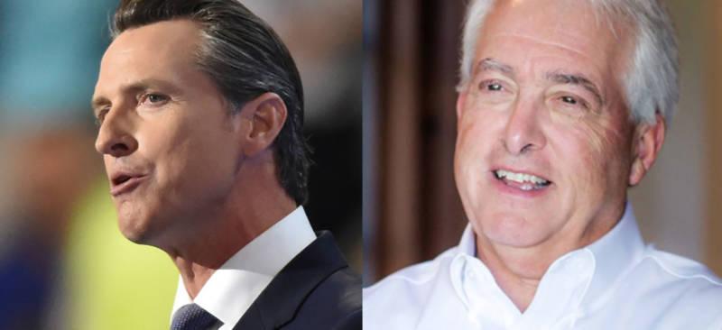 Lt. Governor Gavin Newsom and Republican businessman John Cox.