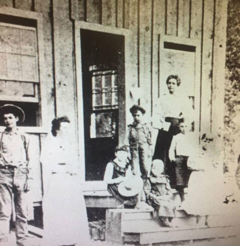 Salt Creek school in what is today Peanut, circa 1895.