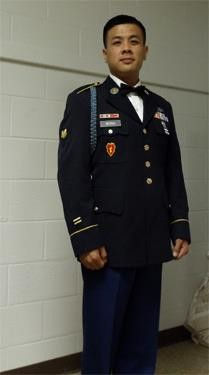 Albert Wong, the gunman who killed three people and himself at a veterans home in Yountville on March 9, 2018, is seen in his military uniform. Wong was a specialist in the infantry and received nine of the Army's awards, including a commendation medal for meritorious service, a medal for exemplary conduct and a expert marksman badge for his skill with a rifle.
