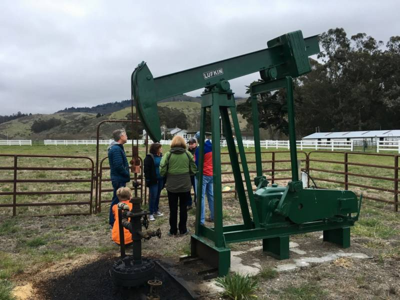 John Tedesco explains the history of oil drilling on this stretch near Half Moon Bay.
