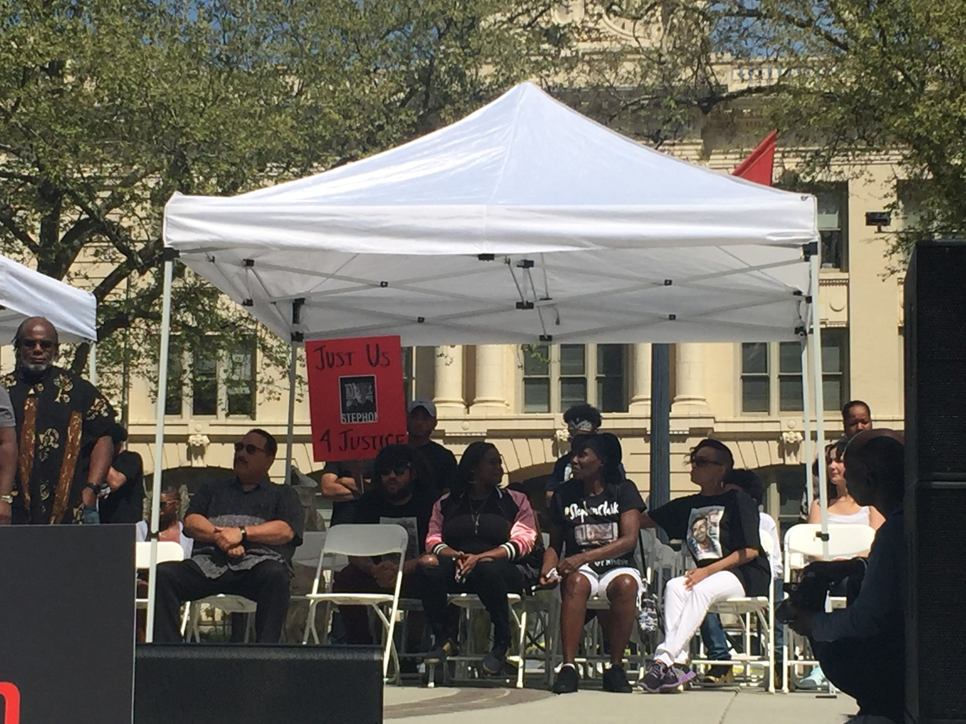 Former Sacramento Kings player Matt Barnes held a rally in downtown Sacramento for Stephon Clark on Saturday, March 31, 2018.