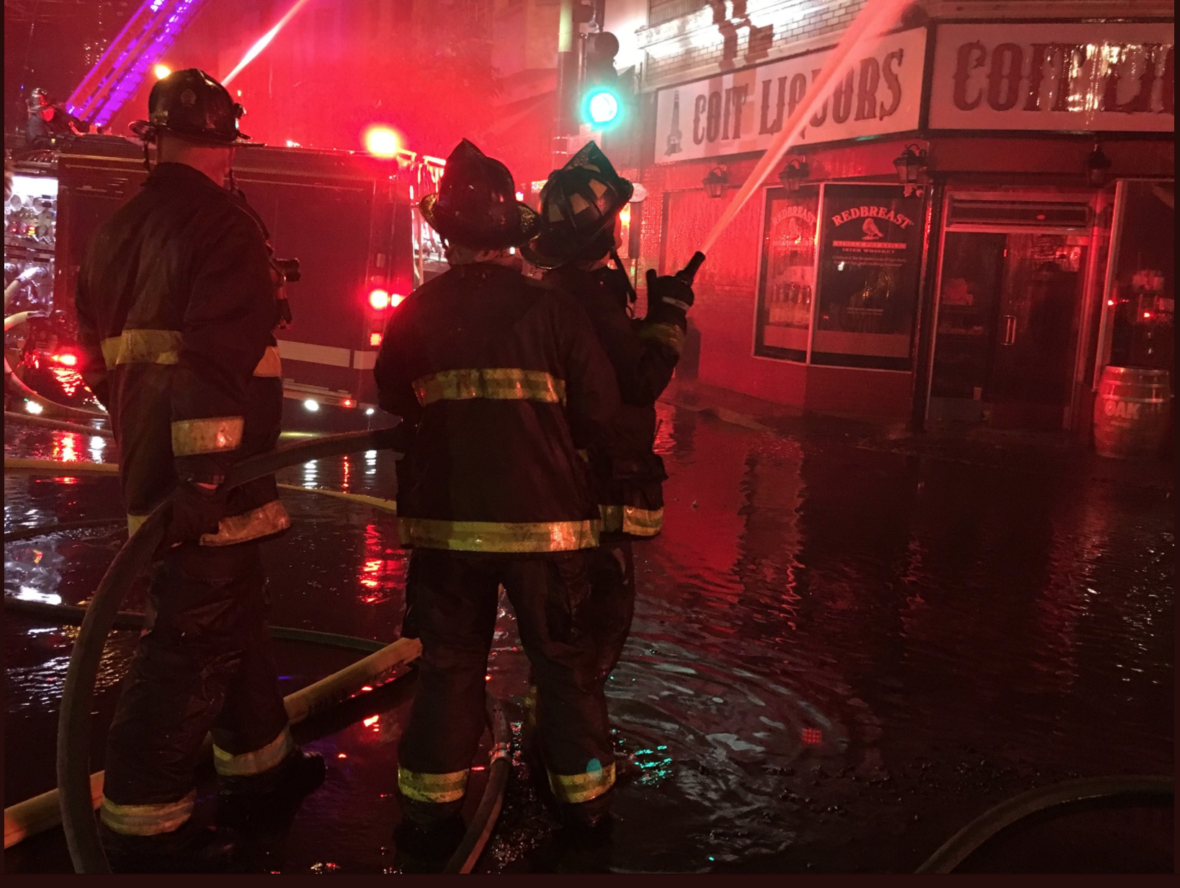 Four-Alarm Building Fire Sends Flames High into North Beach Sky