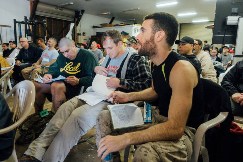 Marine Corps veteran Tomas de Oliveira joined about 150 firefighting trainees at a joint training by the non-profit Team Rubicon and the Bureau of Land Management.