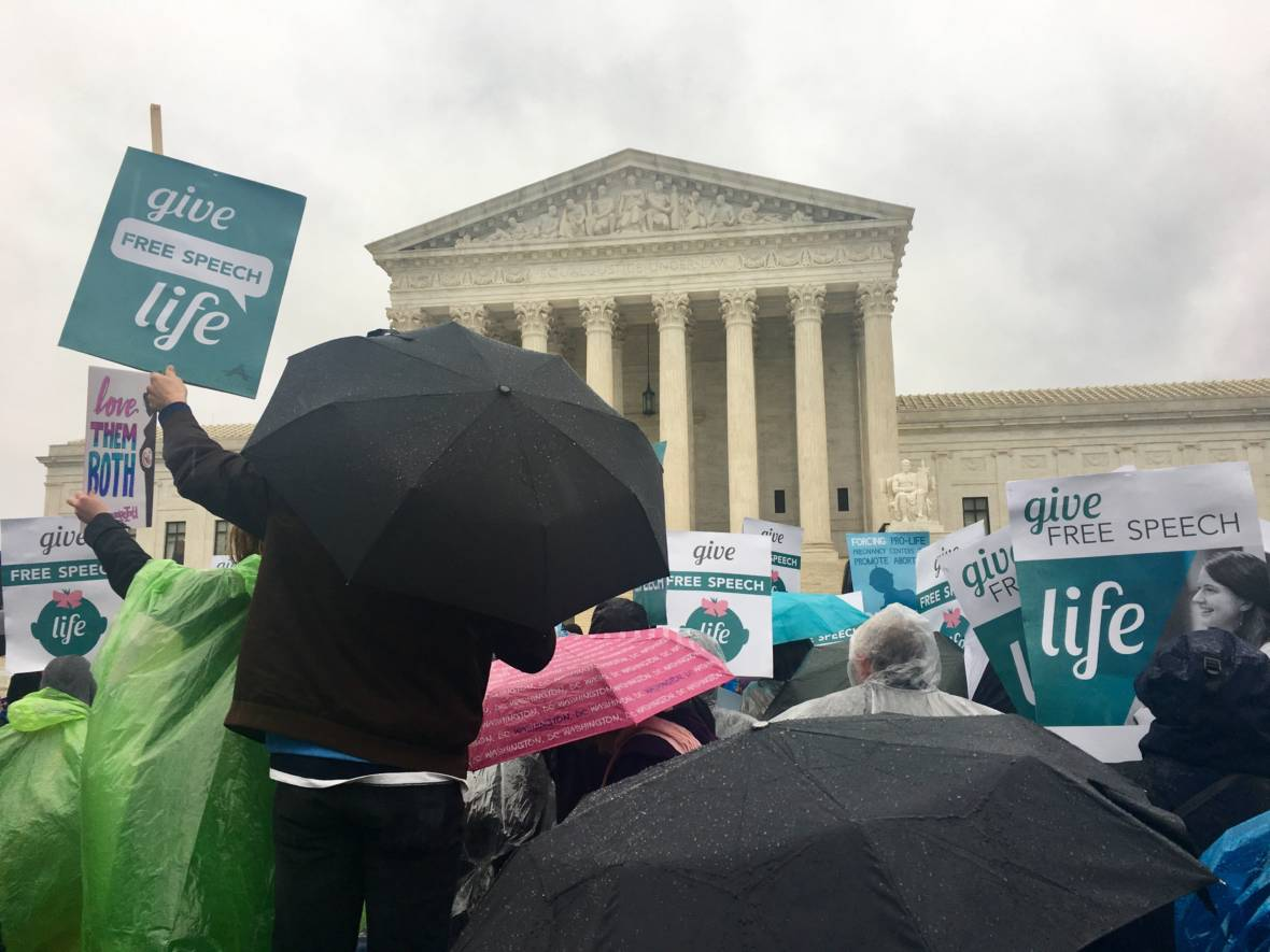 Justices Appear Skeptical of California Law Challenged by Anti-Abortion Centers