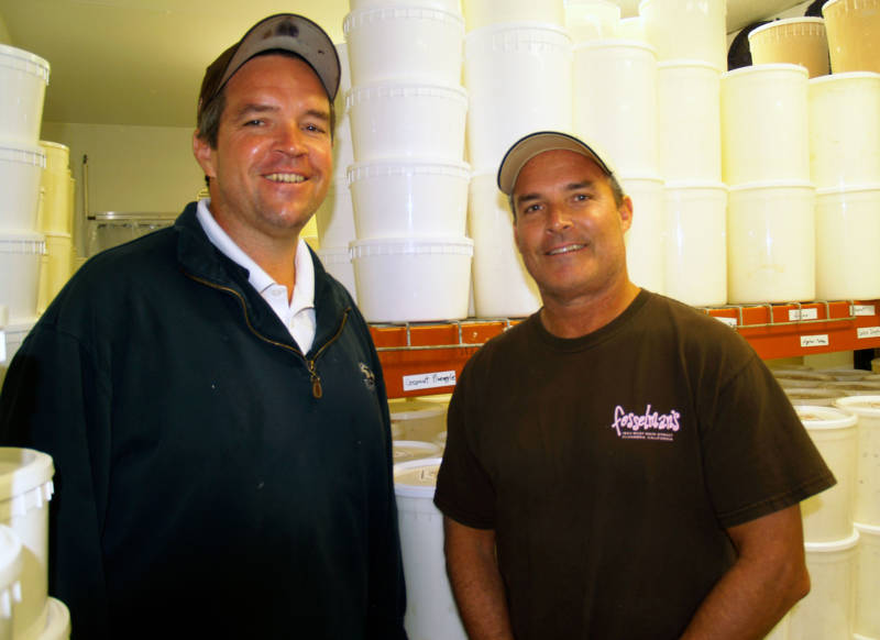 Brothers John (L) and Chris Fosselman are the third generation in their family to run the ice cream business.