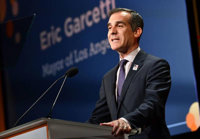 Los Angeles Mayor Eric Garcetti.