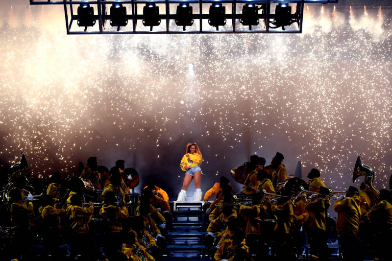 Beyoncé Knowles performs onstage during 2018 Coachella.
