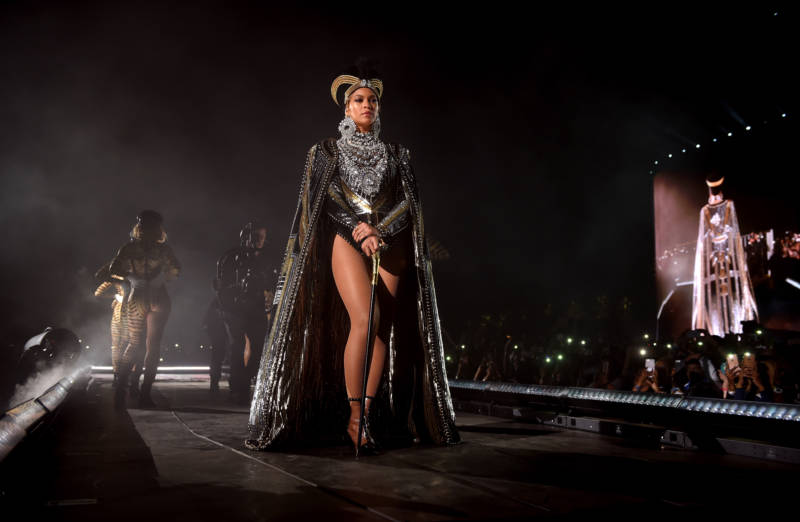 Beyonce's entrance as the headliner at Coachella 2018's first weekend. Her performance had been delayed for a year because of pregnancy.