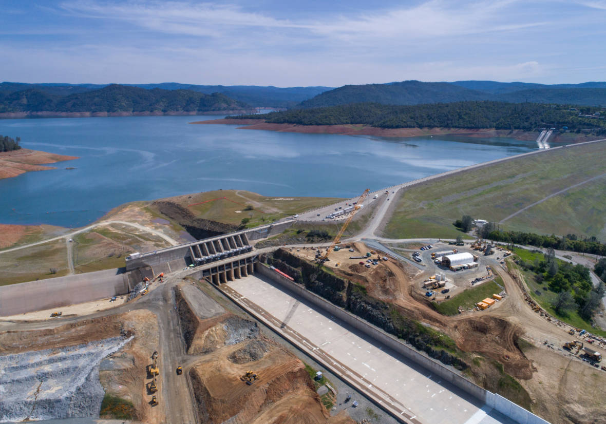 Use of Oroville Dam's Half-Finished Spillway Now 'Unlikely