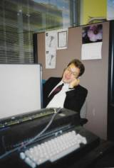KQED's Peter Jon Shuler, circa 1993, quite possibly working on this very story.
