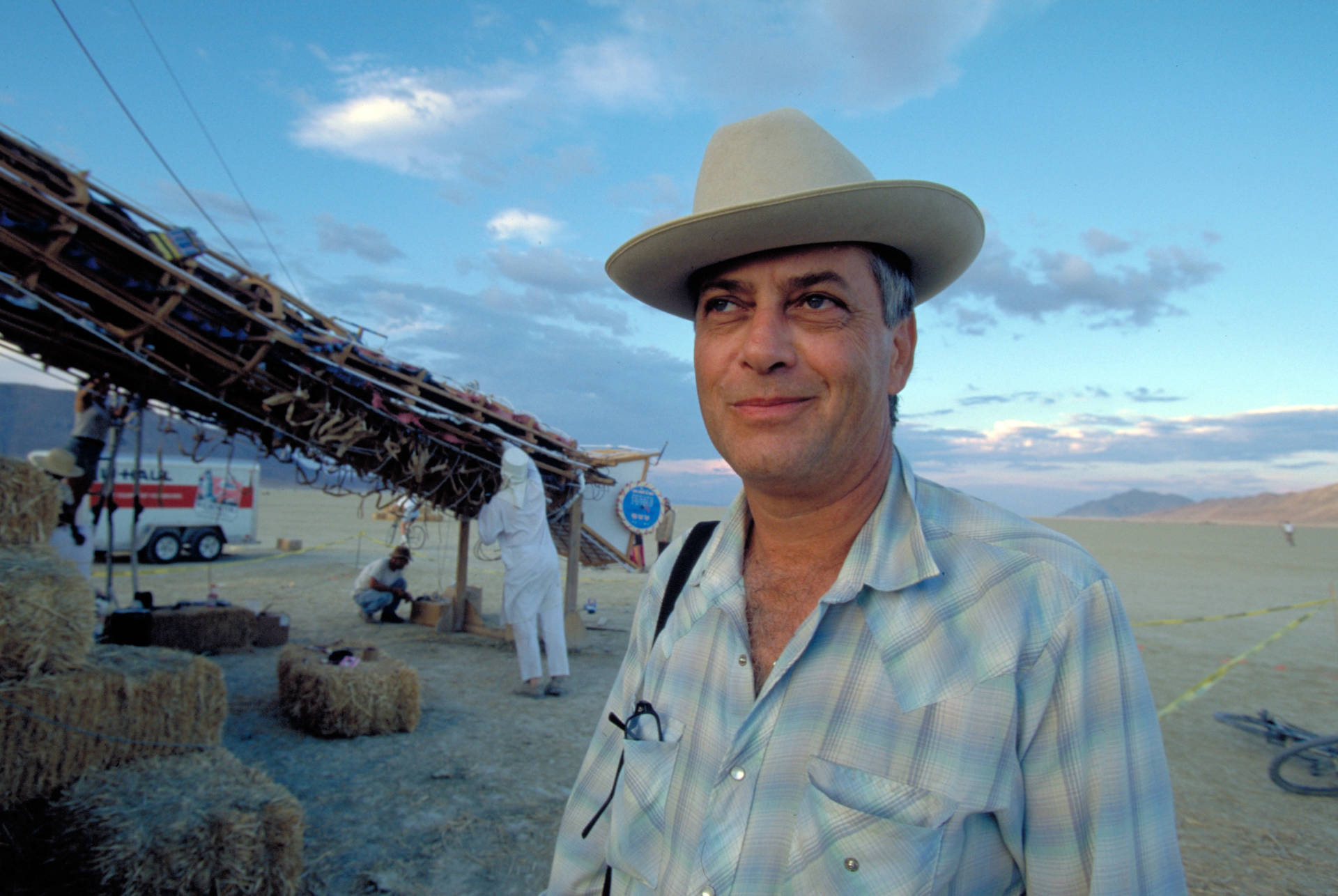 """Larry and the """"Burning Man"""" in 1998."""