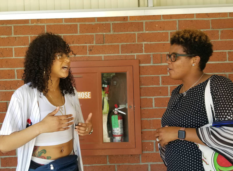 American River College students Grace Swint and Shamona Thompson Ross talk about mental health.