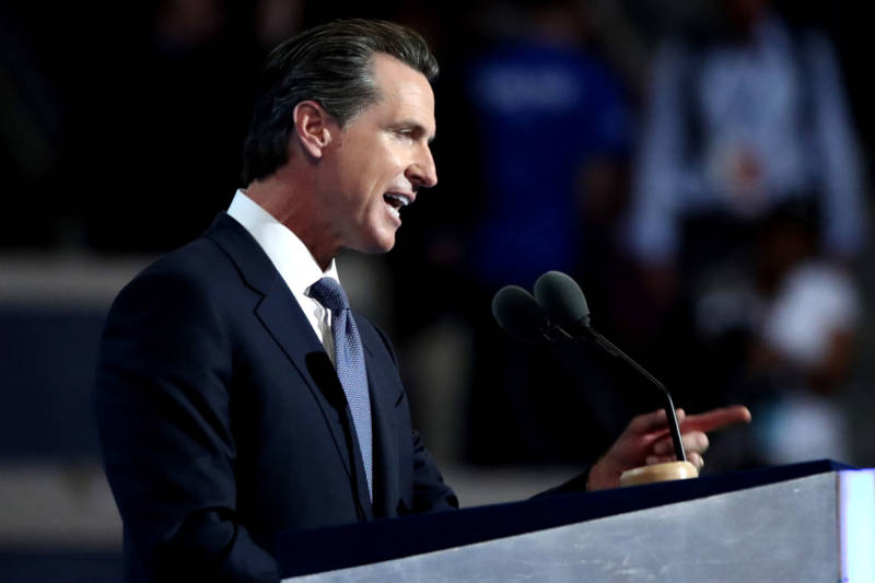 Former San Francisco mayor and Lt. Gov. Gavin Newsom, another Democratic candidate for governor and the race's current frontrunner.