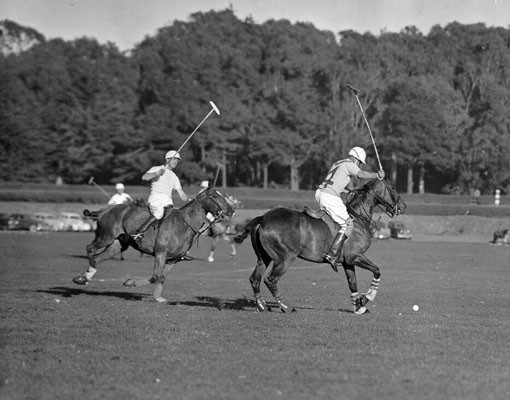 A polo game between Australia and San Francisco played at Golden Gate Park Polo Field on January 3, 1948.