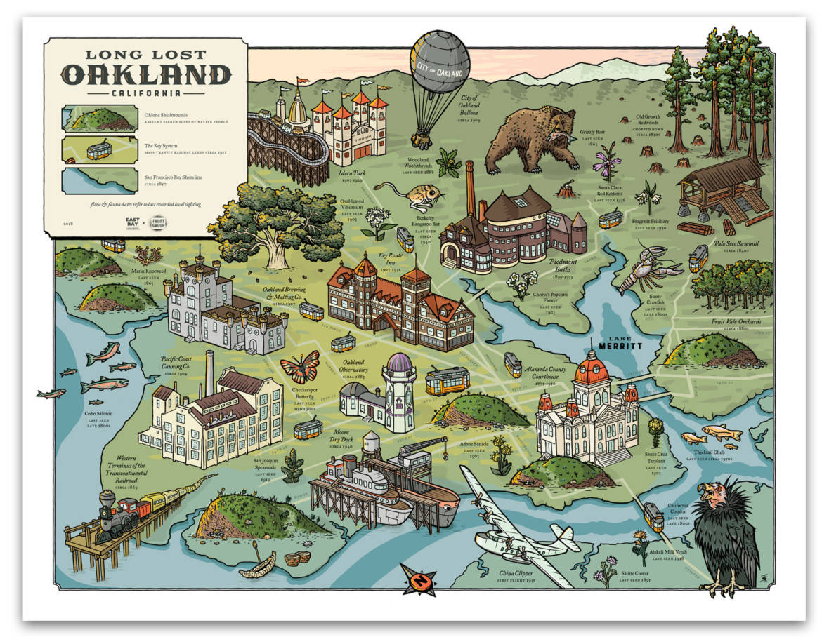 A TimeTraveling Map for Rapidly Changing Oakland The California