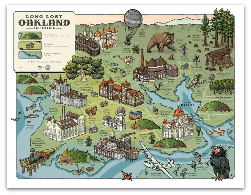Liam O'Donoghue's Long Lost Oakland map highlights pieces of the city's history that no longer exist.