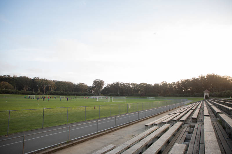 The Golden Gate Park Polo Field is frequented by intramural athletes, runners and cyclists.