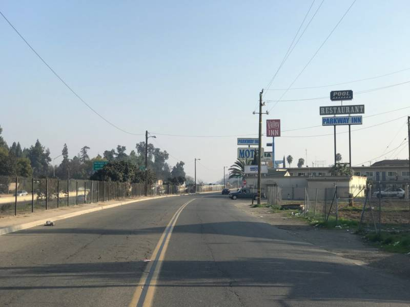 "Amanda often stays in one of these motels on ""Motel Row"" in Fresno."