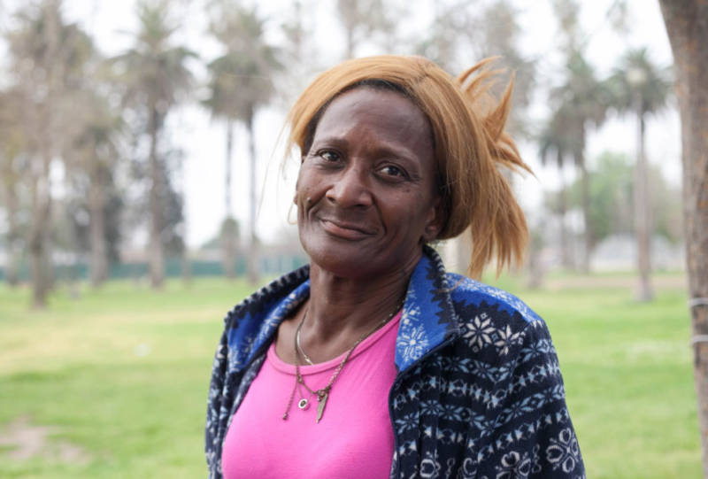 Alice Myles, 61, used to be a nurse before becoming homeless. She tried living in shelters, she said, but her belongings were stolen and she didn't like being around fights.