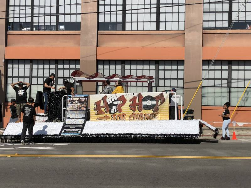 The Hip Hop for Change float was one of many in Sunday's Carnaval parade. According to the official event website, there were at least 80 groups participating in Sunday's parade.
