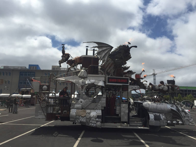 The 'Rabid Transit,' which can shoot flames, was one of the many creations on display at Maker Faire Bay Area.
