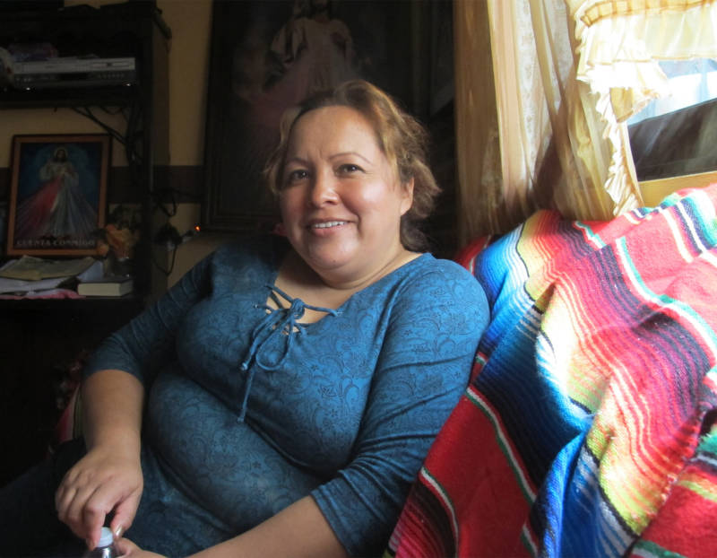 Maria Mendoza, 47, sits at her mother's house in Santa Monica, Hidalgo. Mendoza was deported to Mexico last summer after living in California for more than two decades.