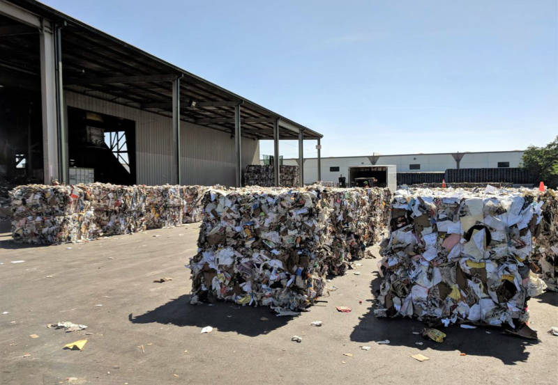 Permits limit how many bales can be stored at recycling facilities. With China's new 30-day ban on all U.S. recyclables, Joseph Kalpakoff worries that Mid Valley disposal could reach that limit and need to start sending bales to landfills.