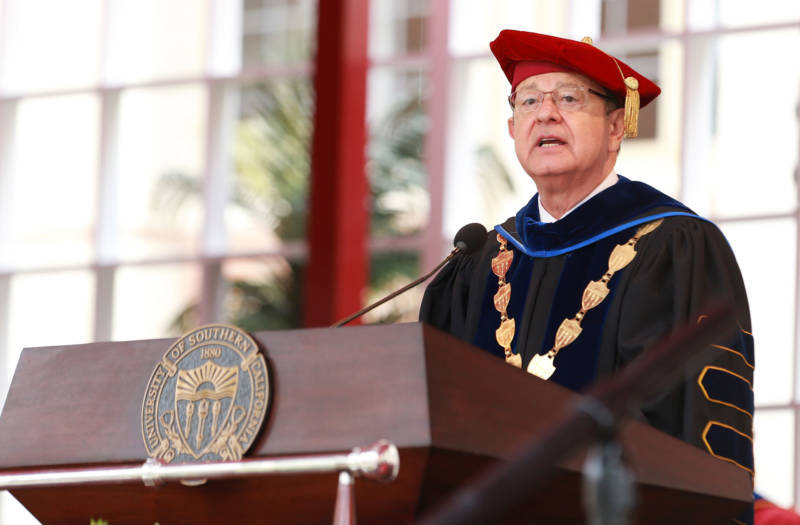 USC President C.L. Max Nikias agreed to step down Friday after criticism for leadership failures during a string of scandals.