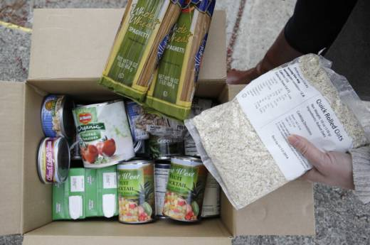 A Box Of Food Prepared At Bank Distribution In Petaluma California Ranks Near The Bottom Enrolling People For Assistance