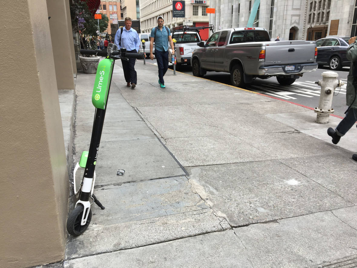 S.F. Adopts Tougher Parking Penalties for Scooter Parking Violations