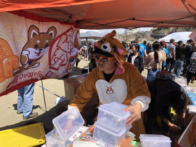 Vendors at Corgi Con sold corgi-themed merch to the masses. Corgi-themed items ranged from pillows to charms and even cookies.