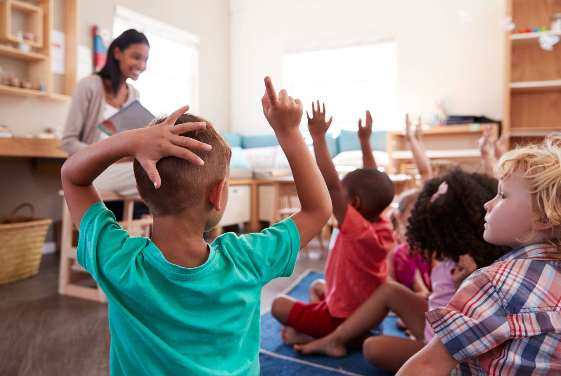 During the recession, state funding for early childhood programs like preschool was severely cut -- and those funds haven't been restored. Getty Images