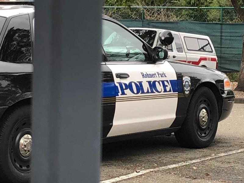 A Rohnert Park police squad car.