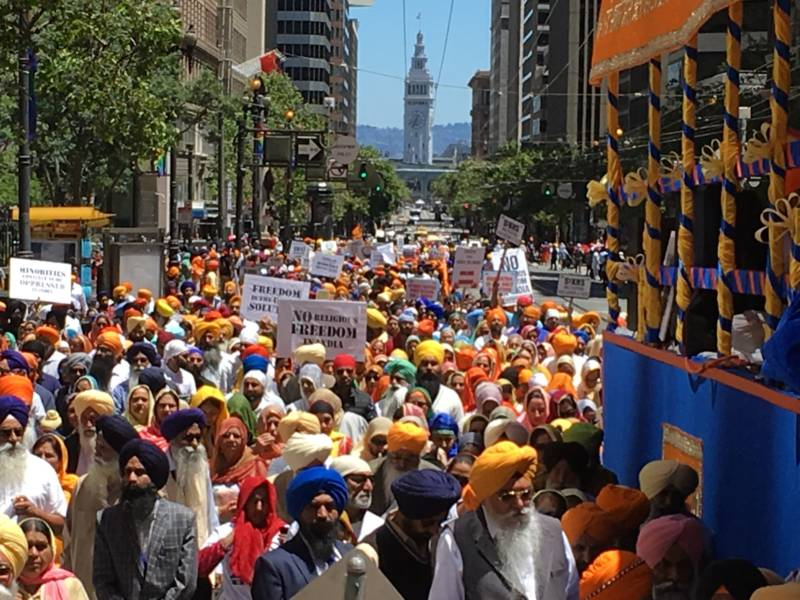 Thousands of Sikhs and their supporters paraded through San Francisco's streets on June 10, 2018, for the 5th Annual Remembrance March and Freedom Rally.