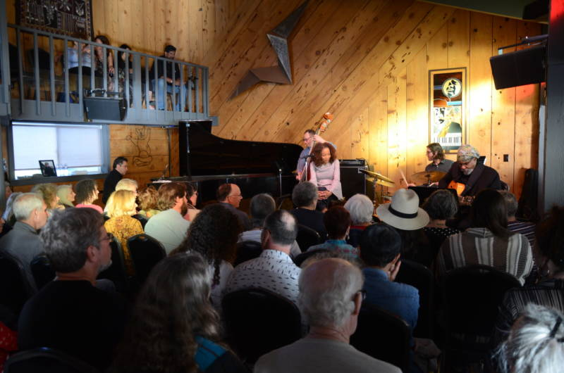 Paula West performs at the Bach Dancing and Dynamite Society in Half Moon Bay on April 22, 2018.