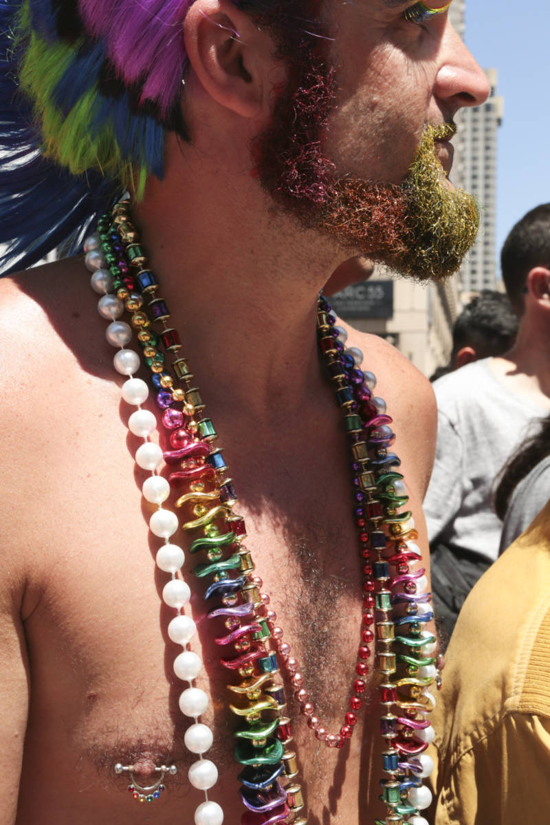 "Brian E. Smith of Wichita, Kansas celebrates pride in San Francisco for the first time. Smith says he has experienced pride in many cities around the world, but ""wanted to come to the motherland."""