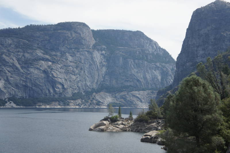 The Hetch Hetchy Reservoir in Yosemite National Park supplies water to San Francisco and other Bay Area cities.