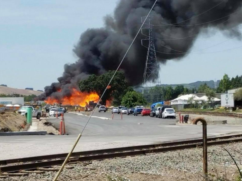Evacuations Lifted In Schellville Facility Fire