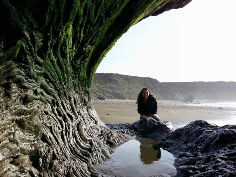 Laura Saso at Big Sur, one of her favorite natural wonders.