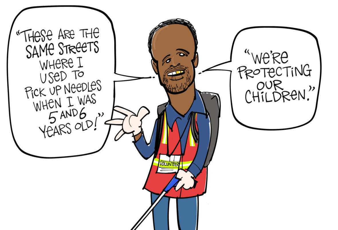 Cartooning the 'Needle Sweepers'