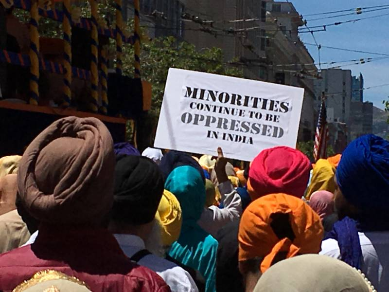 In addition to raising awareness of the Sikh religion, the rally also was meant to draw attention to what Sikhs see as the widespread and longstanding mistreatment of Sikhs and other religious minorities in India.