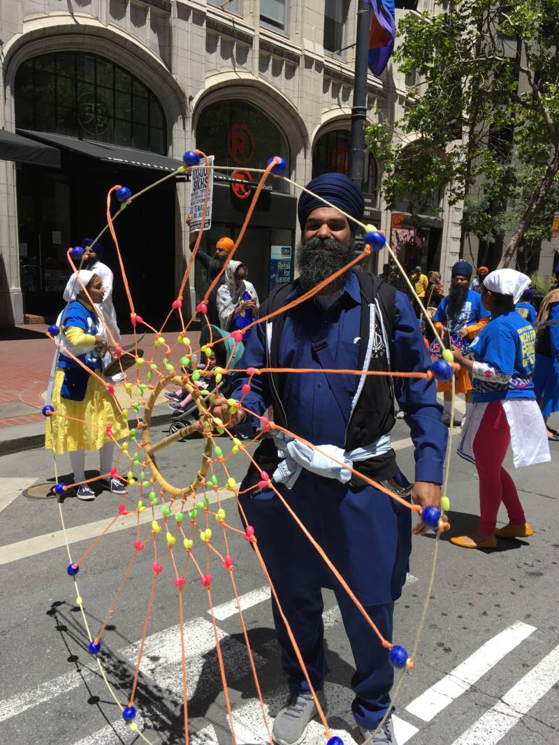 Parmjit Singh from Fresno spins a chakkar, a modern cultural representation of a traditional Sikh weapon.