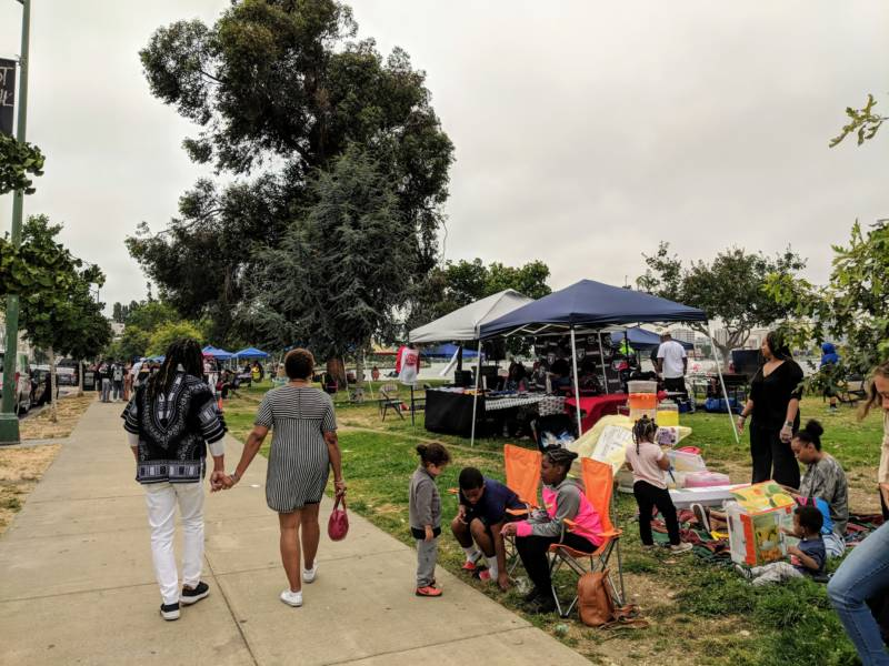 People gathered at Lake Merritt on Sunday to celebrate black community and culture.