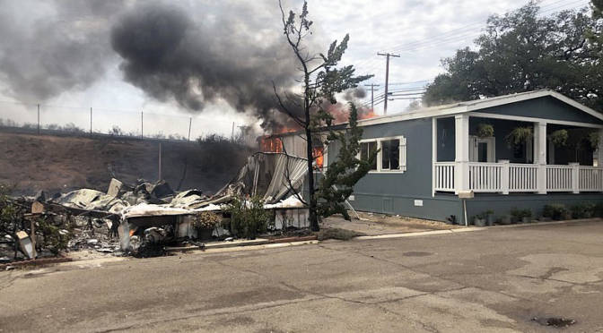 West Fire Destroys 57 Structures in Alpine, East of San Diego